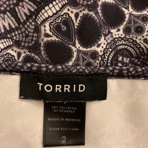 TORRID maxi dress - black & white pattern w/skulls